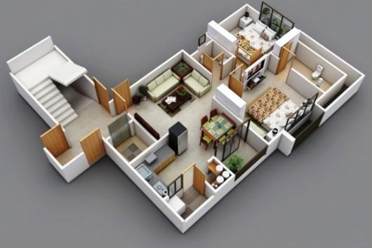 desain-rumah-dengan-dua-kamar